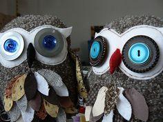 repurposed wool owls