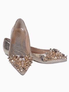Riveted Pointy Toe Flats