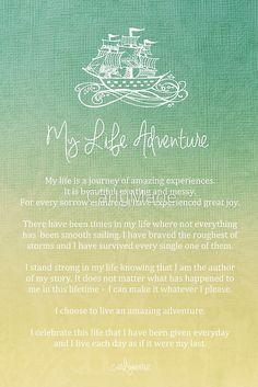 Affirmation - My Life Adventure by CarlyMarie