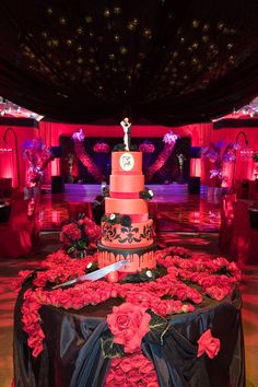 (RED) Cake :: Backstreet Boys AJ McLean's Wedding Photos, Event Planning by Mindy Weiss