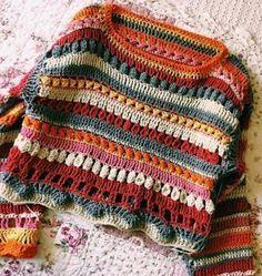hippie style 774196992172161018 - Görüntünün olası içeriği: çizgiler Source by zmrttas Pull Crochet, Mode Crochet, Crochet Baby, Knit Crochet, Crotchet, Hippie Crochet, Hippie Style, Crochet Clothes, Diy Clothes