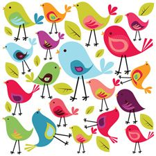 Birds Wall Sticker Set - Spin Collective UK