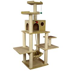 New Cat Condos 6-foot Skyscraper Cat Tree - Overstock™ Shopping - The Best Prices on New Cat Condos Cat Furniture