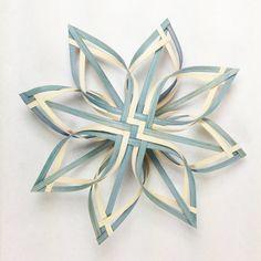 Lg Twill Woven Star Ornament Snowflake Tree Topper by Baskauta27, $28.00