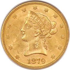 Liberty Eagles, 1879 $10 MS63 PCGS.... Image #1