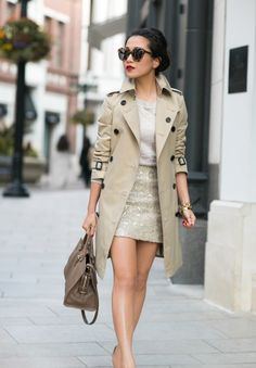 @Wendy's Lookbook Awesome way to wear a trench