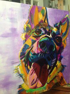Breathtaking beautiful dog painting…