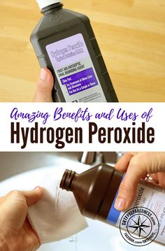 Amazing Benefits and Uses of Hydrogen Peroxide - Hydrogen peroxide is most often used for first aid and it has become a common item in every household. However, hydrogen peroxide can do so much more than disinfecting wounds and staving off infections. Uses Of Hydrogen, Hydrogen Peroxide Uses, Diy Cleaning Products, Cleaning Hacks, Natural Cures, Natural Health, Pineapple Health Benefits, After Life, Emergency Preparedness
