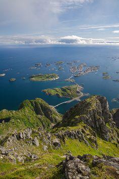 from Festvagtinden, Lofoten Islands