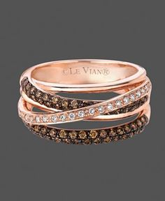 Love it. . . rose gold w/white and chocolate diamonds.