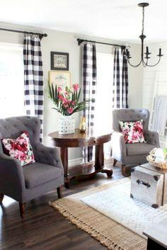 108 Rustic Modern Farmhouse Living Room Decor Ideas - Matchness.com