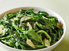 Stewed Turnip Greens recipe from Food Network Kitchen via Food Network Easter Recipes Sides, Easter Dinner Recipes, Easter Brunch, Easter Food, Turnip Greens, Collard Greens, Greens Recipe, Dinner Menu, Dinner Ideas