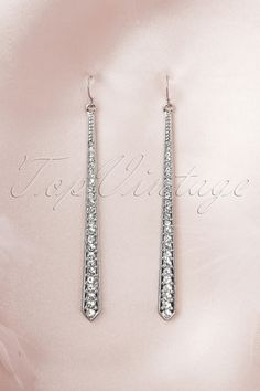 20s Diamond Earrings in Silver - From Paris with Love!