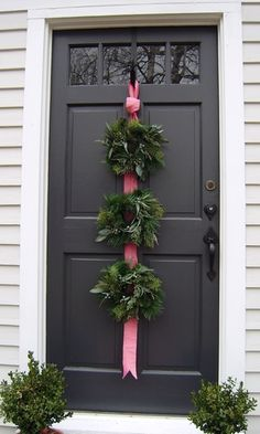 It doesn't matter which holiday is approaching. Thanksgiving, Christmas, you name it.... as long as you have a black door, a wreath is goin...