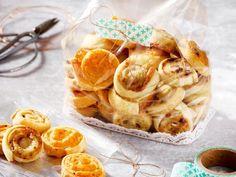 Unser beliebtes Rezept für Dreierlei Käseschnecken und mehr als 55.000 weitere kostenlose Rezepte auf LECKER.de.