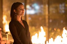 Photos - The Vampire Diaries - Season 8 - Promotional Episode Photos - Episode - Detoured On Some Random Backwoods Path to Hell - Vampire Diaries Series Finale, Vampire Diaries Seasons, Vampire Diaries The Originals, Tvd Season 8, Nat Kelley, Nathalie Kelley, Bonnie Bennett, Female Fighter, Angels