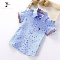 2017 Summer Short Sleeve Turn Down Collar Cotton New Arrival Shirt Famous Brand in China Kung Fu Ant 1463 Boys New Fashion, Little Boy Fashion, Baby Boy Fashion, Toddler Fashion, Baby Shirts, Kids Shirts, Kids Clothes Sale, Kids Clothing, Clothing Stores