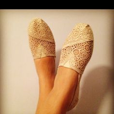 my new TOMS. possibly my wedding shoes!