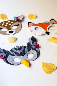 Free Felt Animal Mask Patterns by Anne Weil of Flax & Twine