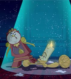 Cogsworth and Lumiere (Beauty and The Beast)