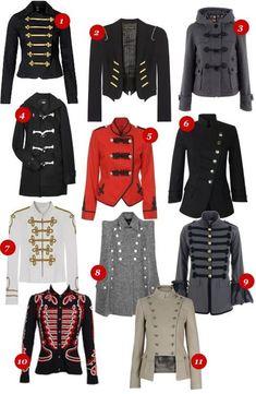 - costume - # costume # military - Uniformen - Women in Uniform Militar Jacket, Cool Outfits, Fashion Outfits, Womens Fashion, Band Uniforms, Military Looks, Military Jacket Women, Military Style Jackets, Women's Jackets