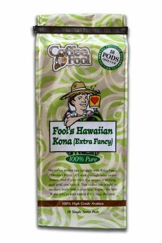 Fool's Hawaiian Kona Pods - 18 Single Serve - http://thecoffeepod.biz/fools-hawaiian-kona-pods-18-single-serve/