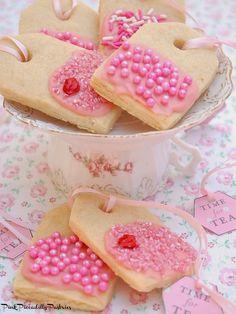 How to Make LEMON TEABAG COOKIES & DIY TEA TAGS ~ Pink Piccadilly Pastries