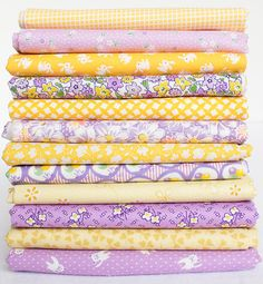 1930's Reproduction Fabric Bundle Purple & Yellow by Twiddletails
