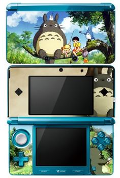 Nintendo Vinyl Skin Sticker Decal, This is for version only. Set of adhesive vinyl Decal Made with Thin and High quality Vinyl Skins Protection from Abrasion & Scratch Gloss laminated for Hayao Miyazaki, Nintendo 3ds, Geek Mode, Studio Ghibli Movies, Anime Merchandise, My Neighbor Totoro, Anime Manga, Kawaii Anime, Just In Case