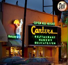 Canters, celeb hang out since 1931. Another great place to hang out in LA. Great breakfast deals!
