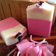Rose and Neroli fragranced soap. Topped with rose petals.