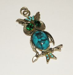 Vintage Horned Owl Jelly Belly Charm Pendant by Eosophobish, $15.00