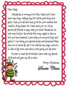 Elf on the Shelf Introduction Letter (FREE!)