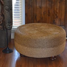 This project has been round the block a few times but the end results are definitely improving. When I first saw this tyre wrapped with rope to make an ottoman, it definitely didn't look as good as some of these projects... http://www.home-dzine.co.za/crafts/craft-rope-tyre-ottoman.htm