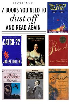 Books to Dust Off and Read Again: The Great Gatsby - Cath 22 - Pride & Prejudice - Beloved - To Kill a Mockingbird - The Importance of Being Earnest - Hamlet Love Reading, Reading Lists, Book Lists, Wisdom Quotes, Book Quotes, Books To Read, My Books, Classic Books, Book Nooks
