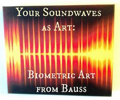 Biometric art: your soundwaves as a canvas in your house: wedding vows, baby's first words, dog barks, and anything else you can imagine! Read the post: http://girlcrafted.blogspot.ca/2013/10/soundwave-art-bauss-makes-techie-art.html#.UlCJTIbrxk0