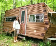 14-Year-Old Amazingly Transforms 1974 Camper With Her Bare Hands
