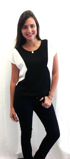 Love the look! Sharp looking blouse!