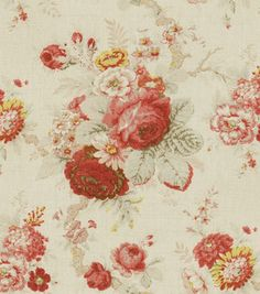 Waverly Home Decor Fabric Norfolk Rose Fabric for the master bedroom drapes. Elegant Home Decor, Easy Home Decor, Elegant Homes, Home Decor Styles, Vintage Home Decor, Waverly Bedding, Waverly Fabric, Passementerie, Home Decor Fabric