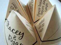 Cootie Catchers- Origami Wedding PlaceCards