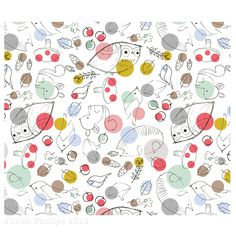 Spotty Woodland by Jillian Phillips #pattern #illustration