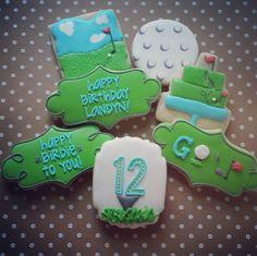 Happy BIRDIE to you! Get it, get it? #cookies #cookietherapy #customcookies #decoratedcookies #royalicing #golf #happybirdie #happybirthday #twelve #12