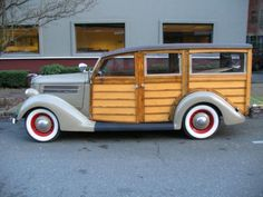 1936 Ford V8 Deluxe Woody Station Wagon...like the colors...think I would add the espresso from the roof to the fenders