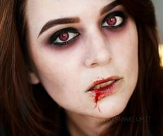 Vampire makeup for Halloween ^_^