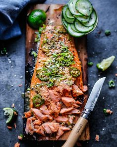 A pleasant reminder that the weekend is coming and your grill is dying to make this Cedar Plank Sesame and Ginger Salmon by 👆Get the & extra Salmon recipes from the… Cedar Plank Salmon, Cedar Planks, Easy Cooking, Healthy Cooking, Healthy Recipes, Paleo Food, Healthy Meals, Healthy Food, Healthy Eating