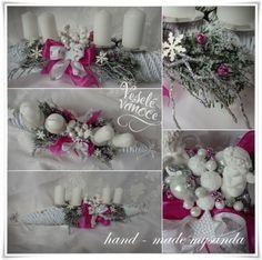 vánoce-adventní štola fuchsiová