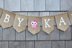 Owl Baby Shower Decor Custom Baby Banner by IchabodsImagination
