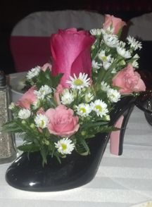 High heel shoes table decoration | Event Table Decorations ...