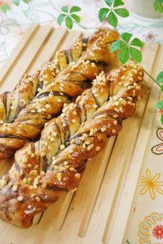 Bread Recipes, Baking Recipes, Japanese Bread, Bread Art, Cafe Food, Sweet Bread, Creative Food, Bread Baking, Asian Recipes