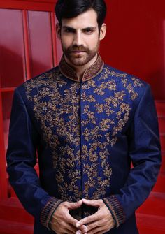 Blue jamawar straight cut. Amir Adnan